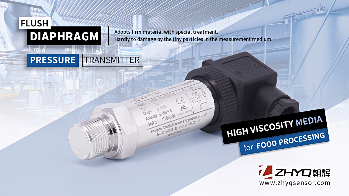 Flush diaphragm pressure transducers and pressure transmitters